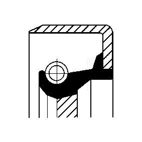 Kupte a vyměňte Tesnici krouzek hridele, hridel prevodovky CORTECO 12017369B
