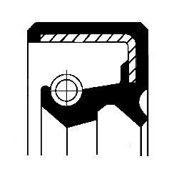NISSAN PRIMERA 2015 Wellendichtring, Schaltgetriebe - Original CORTECO 19016068B