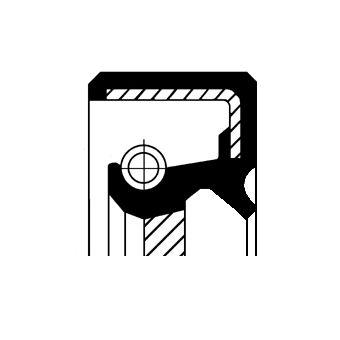 NISSAN QASHQAI 2009 Wellendichtring, Schaltgetriebe - Original CORTECO 19016665B