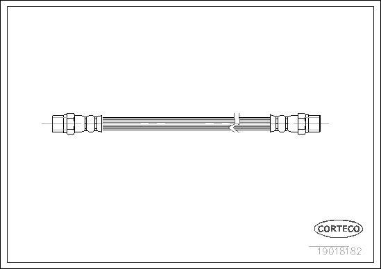 VW K70 1972 Bremsschläuche - Original CORTECO 19018182 Länge: 161mm