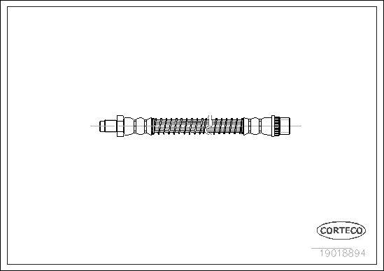 19018894 CORTECO Vorderachse Länge: 290mm Bremsschlauch 19018894 günstig kaufen