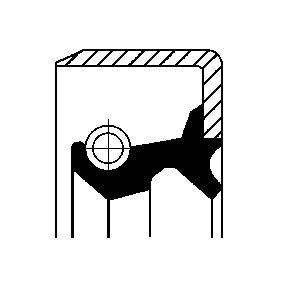 Kupte a vyměňte Tesnici krouzek hridele, naboj kola CORTECO 19019064B