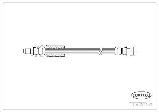 OE Original Bremsschlauch 19020032 CORTECO
