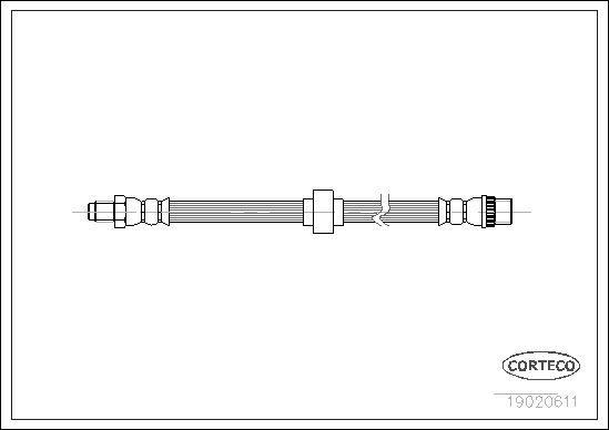 Originali Tubo flessibile del freno 19020611 Carbodies