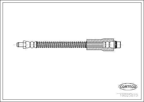 19025873 CORTECO Vorderachse Länge: 305mm Bremsschlauch 19025873 günstig kaufen
