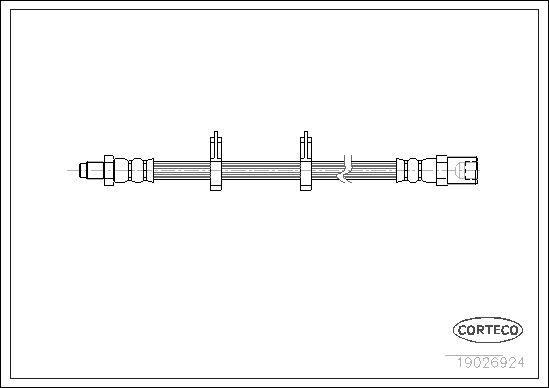 CORTECO: Original Bremsschläuche 19026924 (Länge: 460mm)