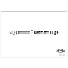 19030135 CORTECO Vorderachse Länge: 550mm Bremsschlauch 19030135 günstig kaufen