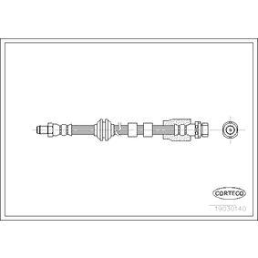 19030140 CORTECO Vorderachse Länge: 445mm Bremsschlauch 19030140 günstig kaufen