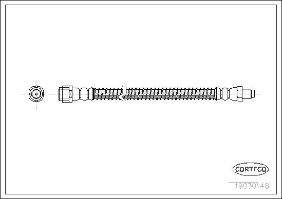 19030148 CORTECO Hinterachse Länge: 255mm Bremsschlauch 19030148 günstig kaufen