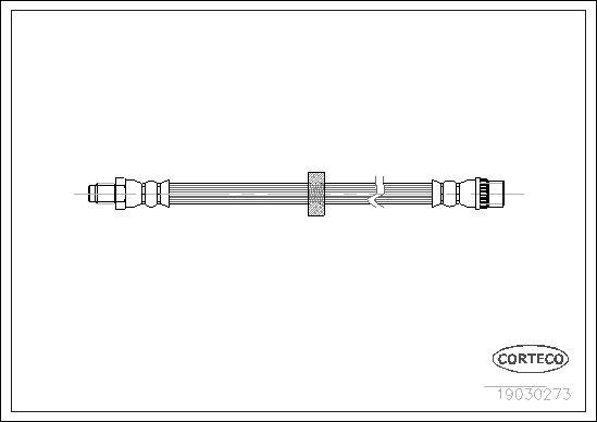 19030273 CORTECO Vorderachse Länge: 240mm Bremsschlauch 19030273 günstig kaufen