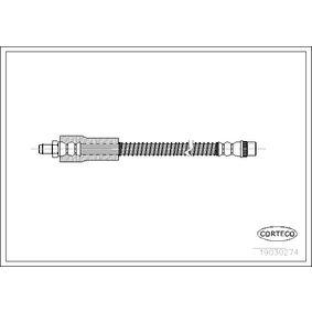 19030274 CORTECO Hinterachse Länge: 410mm Bremsschlauch 19030274 günstig kaufen