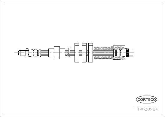 19030284 CORTECO Vorderachse Länge: 535mm Bremsschlauch 19030284 günstig kaufen