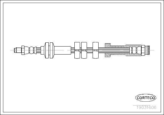 19031606 CORTECO Vorderachse Länge: 445mm Bremsschlauch 19031606 günstig kaufen