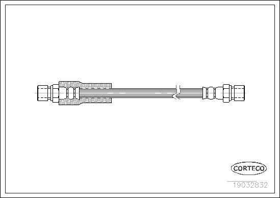 19032832 CORTECO Vorderachse Länge: 460mm Bremsschlauch 19032832 günstig kaufen
