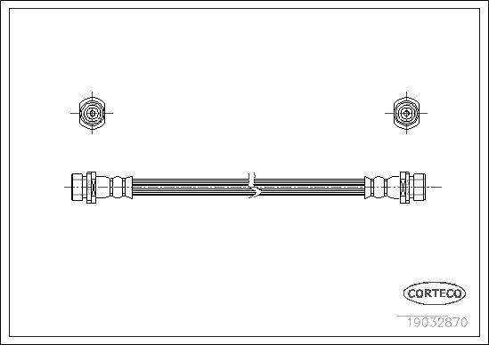 19032870 CORTECO Hinterachse Länge: 440mm Bremsschlauch 19032870 günstig kaufen