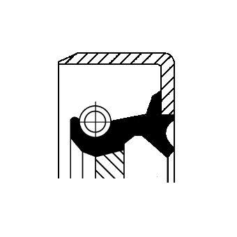 Original NISSAN Wellendichtring, Schaltgetriebe 19034985B
