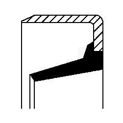 CORTECO: Original Wellendichtring, Schaltgetriebe 20026879B ()