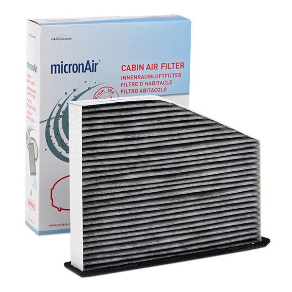 21653008 CORTECO Aktivkohlefilter Breite: 207mm, Höhe: 34mm, Länge: 269mm Filter, Innenraumluft 21653008 günstig kaufen