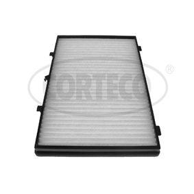 21653017 CORTECO Partikelfilter Breite: 262mm, Höhe: 32mm, Länge: 397mm Filter, Innenraumluft 21653017 günstig kaufen