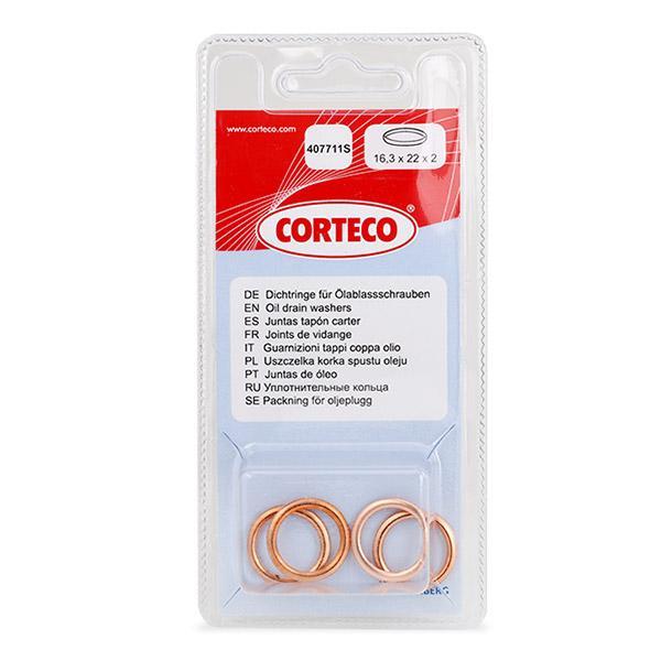 Origine Joints d'etanchéité CORTECO 407711S (Épaisseur: 2mm, Ø: 22mm, Diamètre intérieur: 16,3mm)