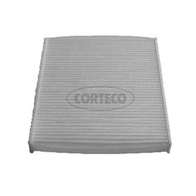 80000061 CORTECO Partikelfilter B: 209mm, H: 35mm, L: 235mm Filter, kupéventilation 80000061 köp lågt pris