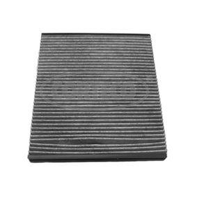 80000113 CORTECO Aktivkohlefilter Breite: 231mm, Höhe: 30mm, Länge: 258mm Filter, Innenraumluft 80000113 günstig kaufen