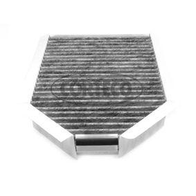 80000606 CORTECO Aktivkohlefilter Breite: 182mm, Höhe: 45mm, Länge: 250mm Filter, Innenraumluft 80000606 günstig kaufen