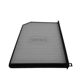 80000607 CORTECO Breite: 226mm, Höhe: 31mm, Länge: 310mm Filter, Innenraumluft 80000607 günstig kaufen