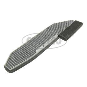 80000756 CORTECO Aktivkohlefilter Breite: 120mm, Höhe: 17mm, Länge: 411mm Filter, Innenraumluft 80000756 günstig kaufen