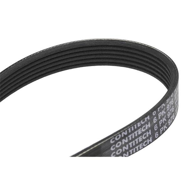 Volkswagen CORRADO 1995 Belts, chains, rollers CONTITECH 6PK976: