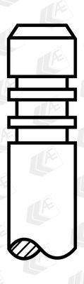 Köp AE V94081 - Insugningsventil till Skoda: Härdad ventilskaftsända, Härdat väntilsäte