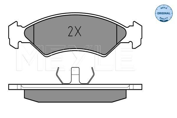 Scheibenbremsbeläge FORD Fiesta Mk1 Kastenwagen (WFVT) hinten + vorne 1984 - MEYLE 025 208 5717 (Höhe: 42,1mm, Breite: 141,4mm, Dicke/Stärke: 17,5mm)