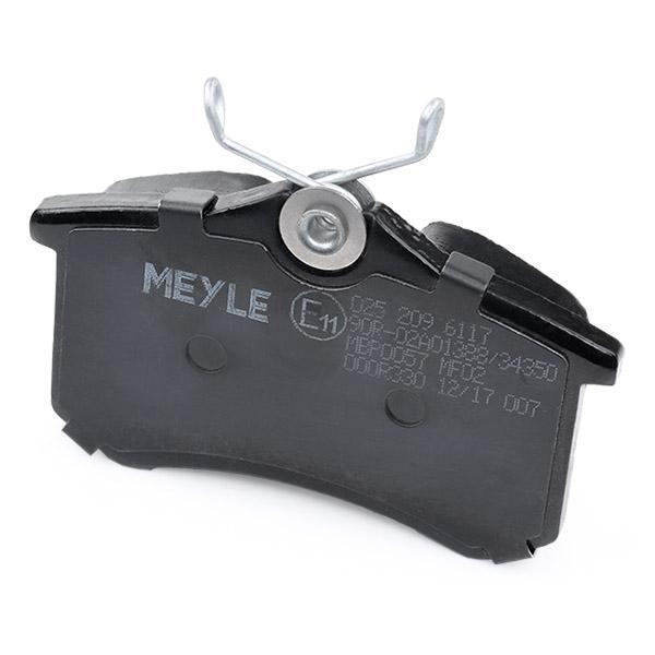 025 209 6117 Bremsbelagsatz MEYLE - Markenprodukte billig