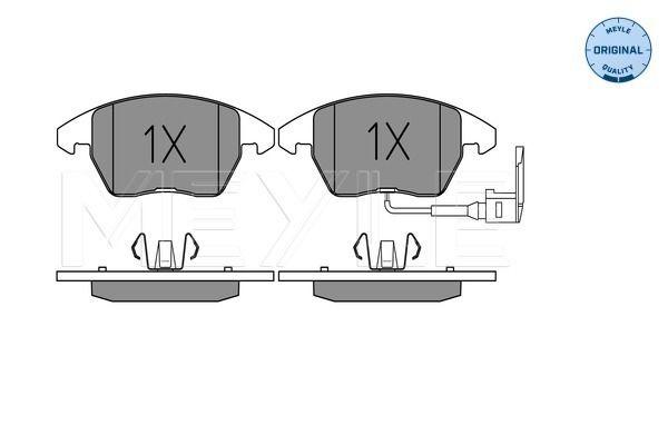 Bremsbelagsatz Scheibenbremse FORD Mondeo Mk5 Schrägheck (CE) hinten + vorne 2017 - MEYLE 025 235 8720/W (Höhe 1: 66mm, Höhe 2: 71,5mm, Breite 1: 155,2mm, Breite 2: 156,5mm, Dicke/Stärke: 20mm)