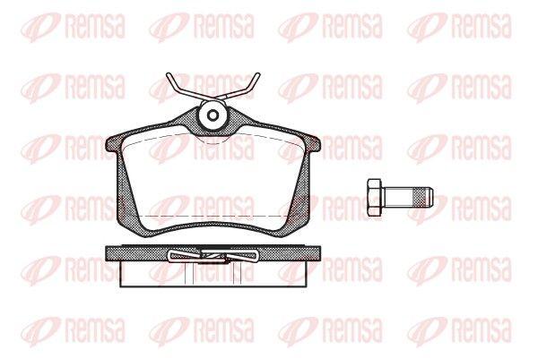 D340A7335 REMSA Hinterachse, mit Klebefolie, mit Schrauben, mit Feder, mit Zubehör Höhe: 52,9mm, Dicke/Stärke: 17mm Bremsbelagsatz, Scheibenbremse 0263.01 günstig kaufen