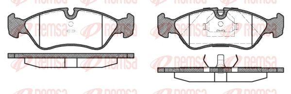 PCA028610 REMSA Vorderachse, für Verschleißwarnanzeiger vorbereitet, mit Klebefolie, mit Feder, mit Zubehör Höhe: 52,8mm, Breite: 156,4mm, Dicke/Stärke 1: 17,3mm, Dicke/Stärke 2: 18,1mm Bremsbelagsatz, Scheibenbremse 0286.10 günstig kaufen