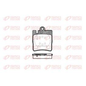 D8767753 REMSA Hinterachse, für Verschleißwarnanzeiger vorbereitet, mit Klebefolie, mit Zubehör Höhe: 78,18mm, Dicke/Stärke: 15,3mm Bremsbelagsatz, Scheibenbremse 0709.00 günstig kaufen