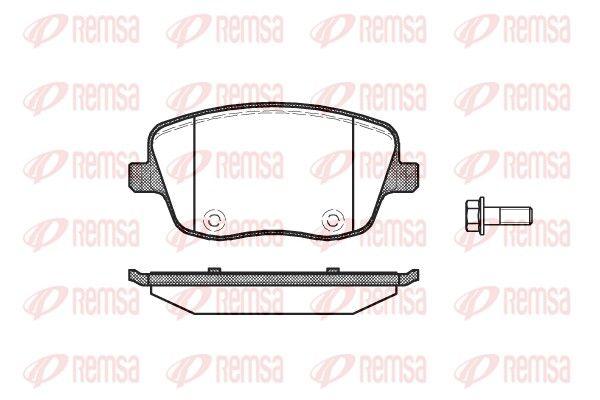BPM077500 REMSA Vorderachse, mit Klebefolie, mit Schrauben, mit Zubehör Höhe: 62,6mm, Dicke/Stärke: 18,8mm Bremsbelagsatz, Scheibenbremse 0775.00 günstig kaufen