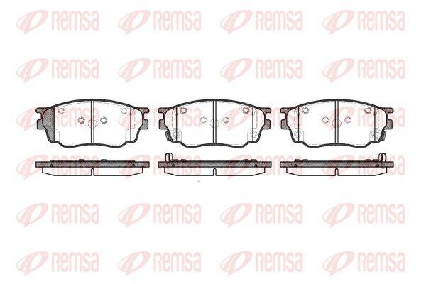 BPM080022 REMSA Vorderachse, inkl. Verschleißwarnkontakt, mit Klebefolie, mit Zubehör Höhe: 56mm, Dicke/Stärke: 17mm Bremsbelagsatz, Scheibenbremse 0800.22 günstig kaufen