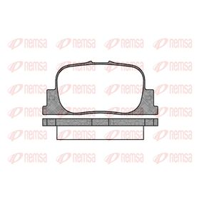 D8357708 REMSA Hinterachse, mit Klebefolie, mit Zubehör, mit Feder Höhe: 38,6mm, Dicke/Stärke: 15mm Bremsbelagsatz, Scheibenbremse 0801.00 günstig kaufen