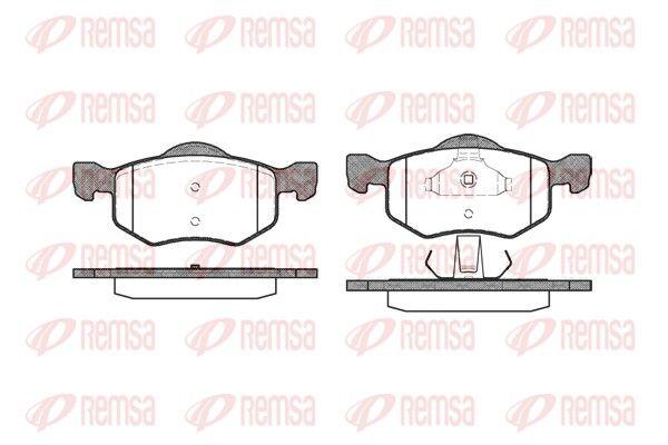 D8437719 REMSA Vorderachse, mit Klebefolie, mit Feder, mit Zubehör Höhe: 66,5mm, Dicke/Stärke 1: 20,6mm, Dicke/Stärke 2: 19,6mm Bremsbelagsatz, Scheibenbremse 0802.00 günstig kaufen