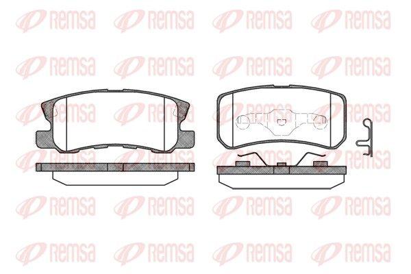 D8687743 REMSA Hinterachse, inkl. Verschleißwarnkontakt, mit Feder, mit Zubehör Höhe: 45mm, Dicke/Stärke: 15,5mm Bremsbelagsatz, Scheibenbremse 0803.02 günstig kaufen