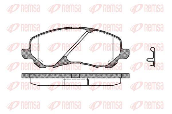 D8667741 REMSA Vorderachse, inkl. Verschleißwarnkontakt, mit Feder, mit Zubehör Höhe: 55mm, Dicke/Stärke: 16mm Bremsbelagsatz, Scheibenbremse 0804.02 günstig kaufen