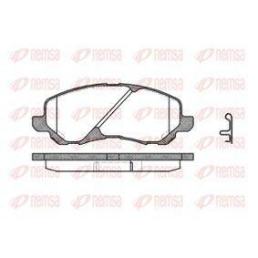 D8667741 REMSA Vorderachse, inkl. Verschleißwarnkontakt, mit Zubehör, mit Feder Höhe: 55mm, Dicke/Stärke: 16mm Bremsbelagsatz, Scheibenbremse 0804.02 günstig kaufen