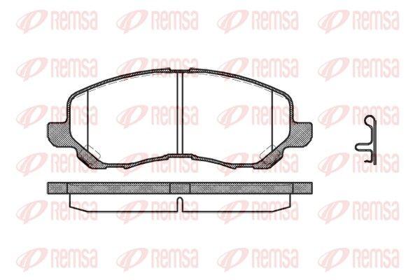 BPM080412 REMSA Vorderachse, inkl. Verschleißwarnkontakt, mit Feder, mit Zubehör Höhe: 55mm, Dicke/Stärke: 16mm Bremsbelagsatz, Scheibenbremse 0804.12 günstig kaufen