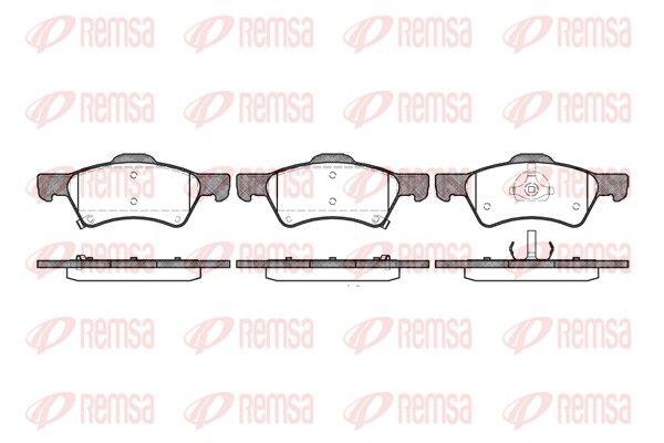 D8577733 REMSA Vorderachse, inkl. Verschleißwarnkontakt, mit Klebefolie, mit Zubehör, mit Feder Höhe: 65,5mm, Dicke/Stärke: 18,8mm Bremsbelagsatz, Scheibenbremse 0810.02 günstig kaufen