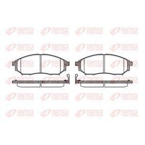 D8888221 REMSA Vorderachse, inkl. Verschleißwarnkontakt Höhe: 58,5mm, Dicke/Stärke: 17mm Bremsbelagsatz, Scheibenbremse 0852.14 günstig kaufen