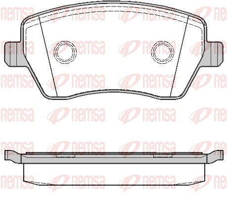 D14358553 REMSA Vorderachse, mit Klebefolie, mit Schrauben, mit Zubehör Höhe: 52,5mm, Dicke/Stärke: 17,3mm Bremsbelagsatz, Scheibenbremse 0987.00 günstig kaufen
