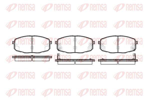 BPM103802 REMSA Vorderachse, inkl. Verschleißwarnkontakt, mit Klebefolie, mit Zubehör Höhe: 58mm, Dicke/Stärke: 16,8mm Bremsbelagsatz, Scheibenbremse 1038.02 günstig kaufen