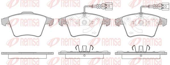 BPM104522 REMSA Vorderachse, inkl. Verschleißwarnkontakt, mit Klebefolie, mit Feder, mit Zubehör Höhe 1: 74,8mm, Höhe 2: 73,3mm, Dicke/Stärke 1: 18,5mm, Dicke/Stärke 2: 19,8mm Bremsbelagsatz, Scheibenbremse 1045.22 günstig kaufen